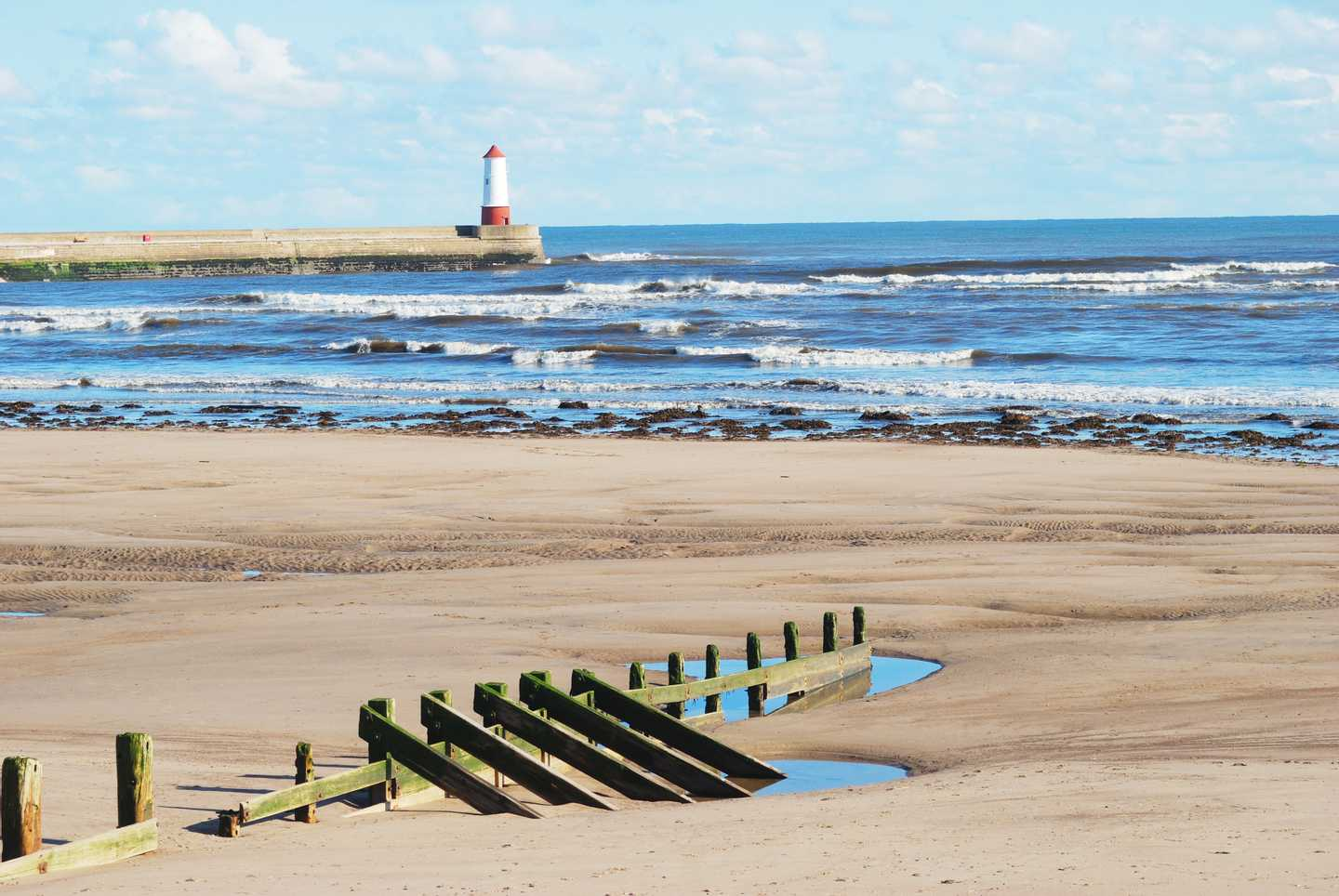 Spittal Beach in Northumberland