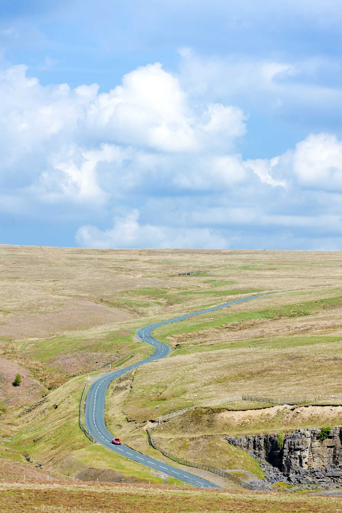 A road running through the Pennines