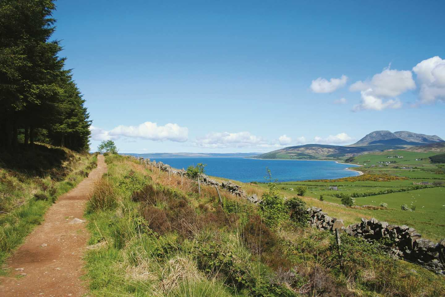 A scenic view of the Isle of Arran