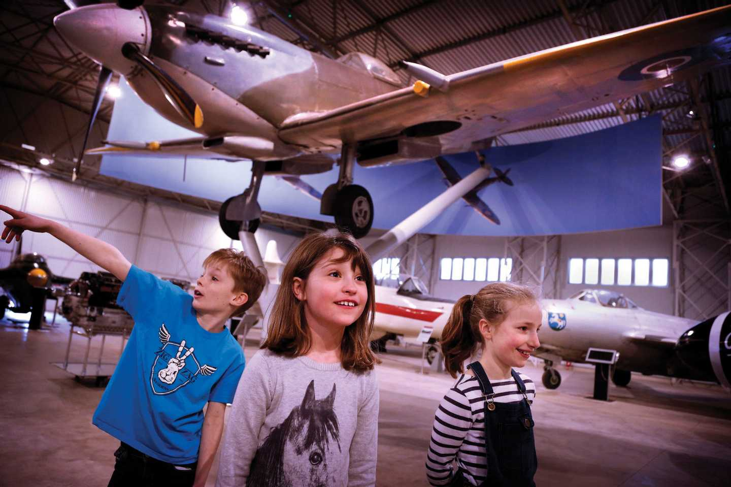 Children in the National Museum of Flight