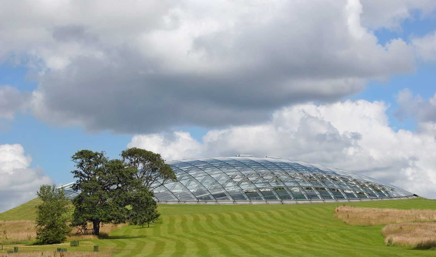 Great Glasshouse surrounded by greenery