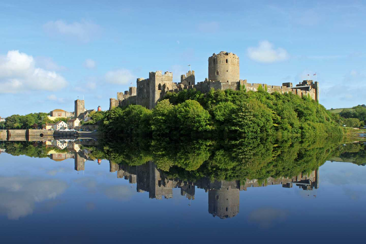 Pembroke Castle overlooking the river