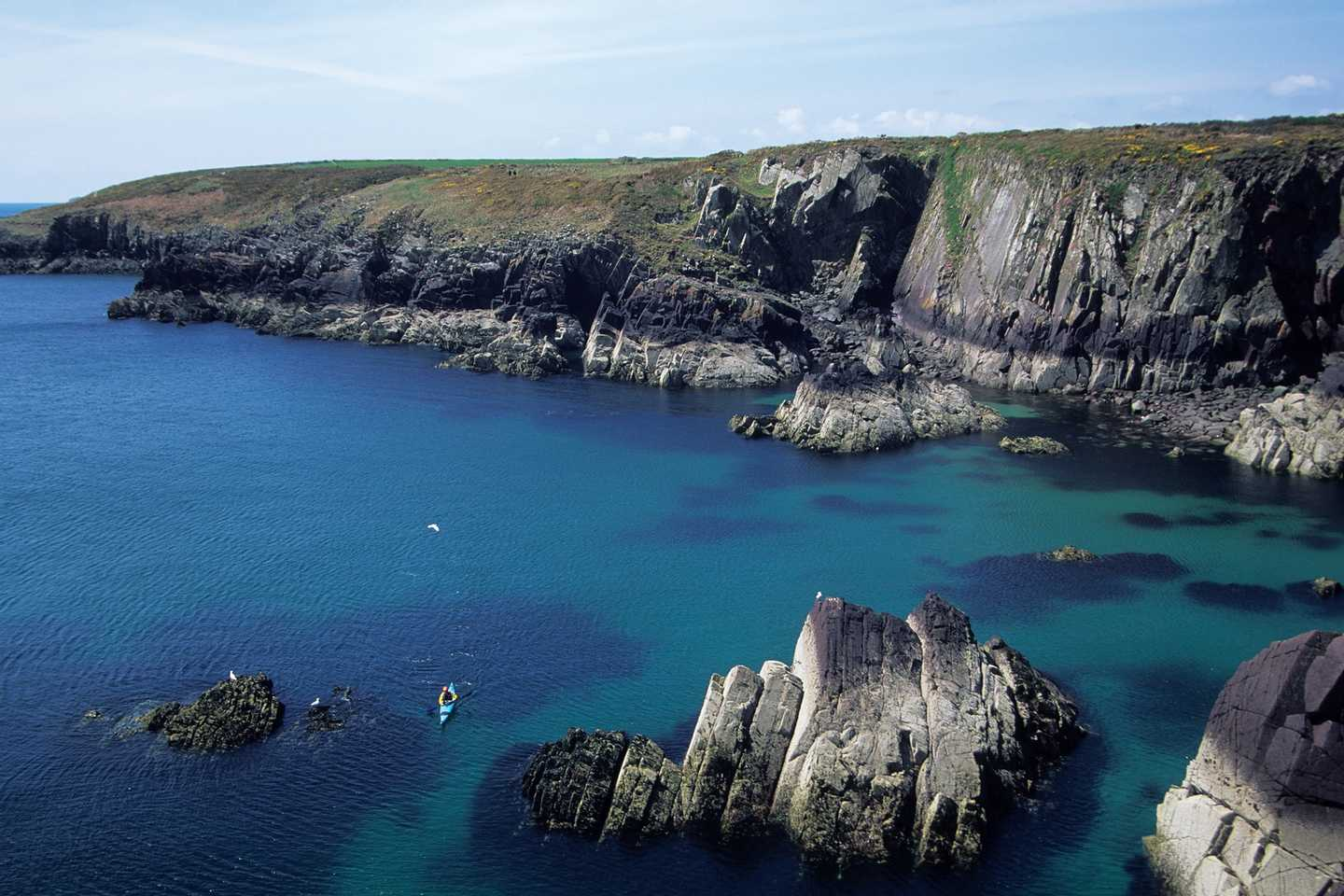 A panoramic view of Pembrokeshire coast