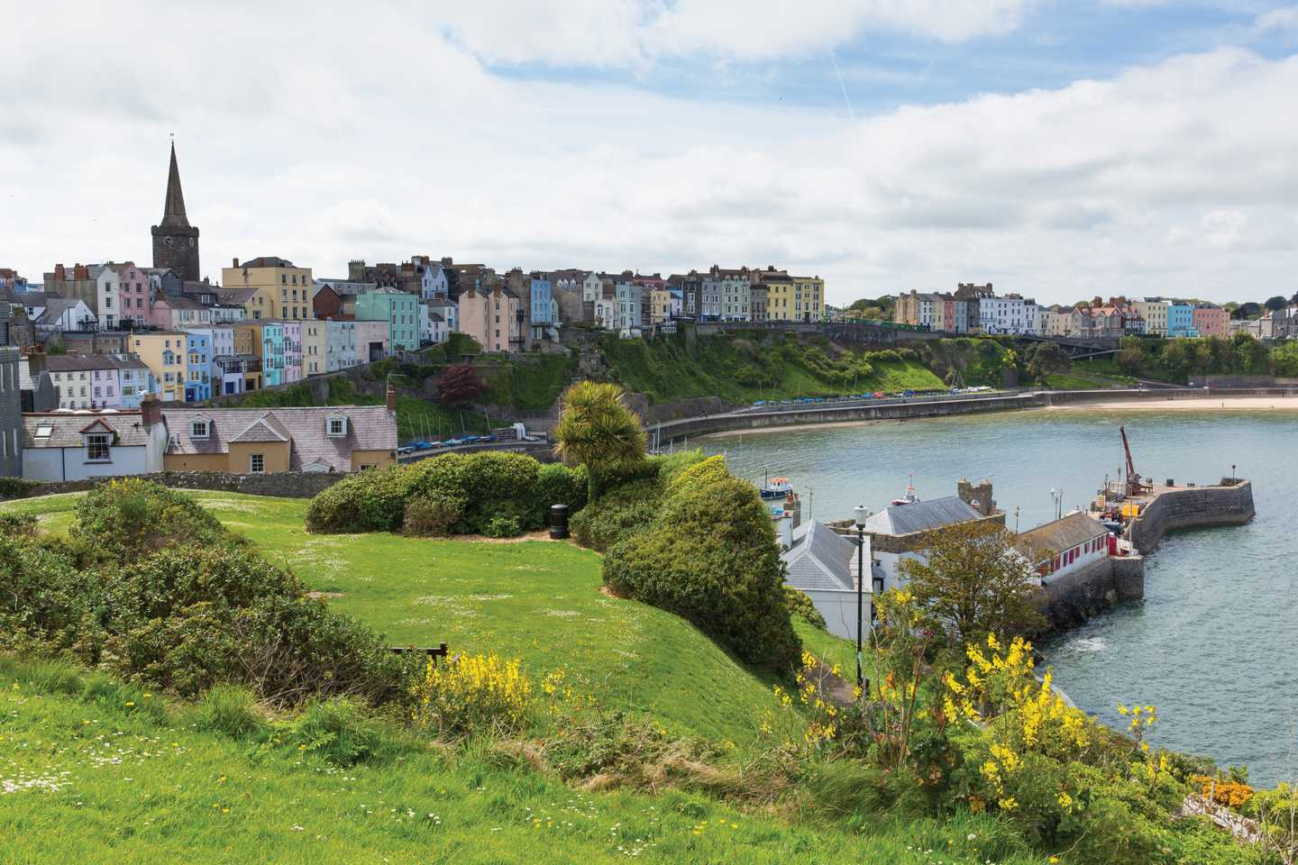A coastal view of Tenby