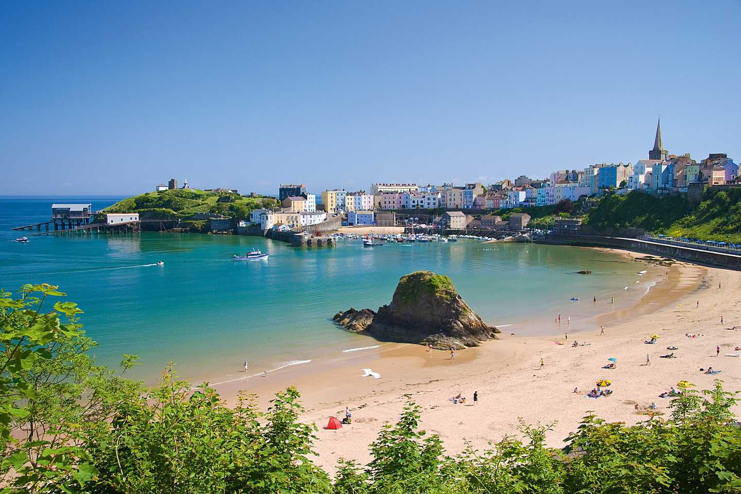 Tenby Harbour in South Wales