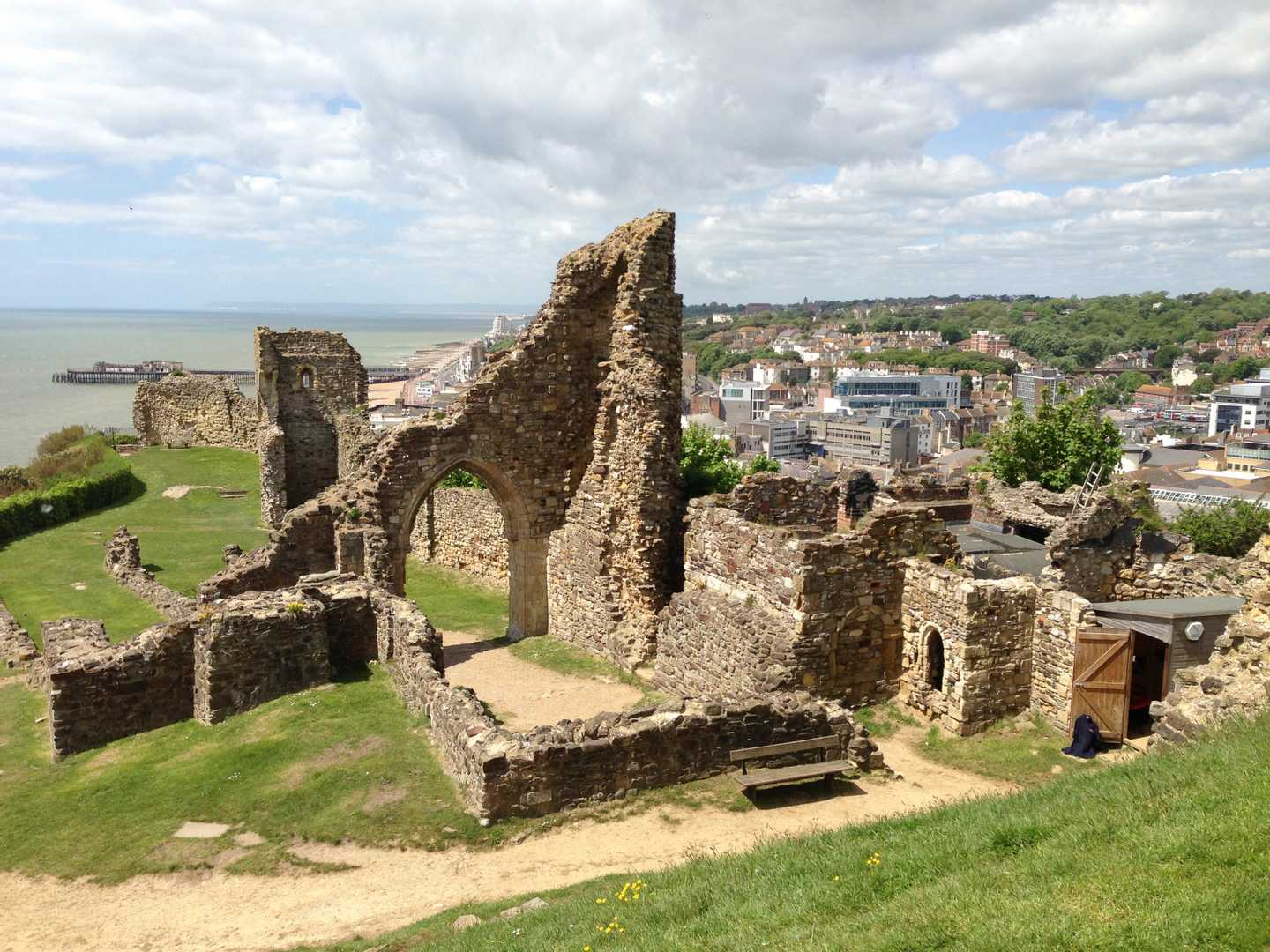 Hastings Castle in Sussex