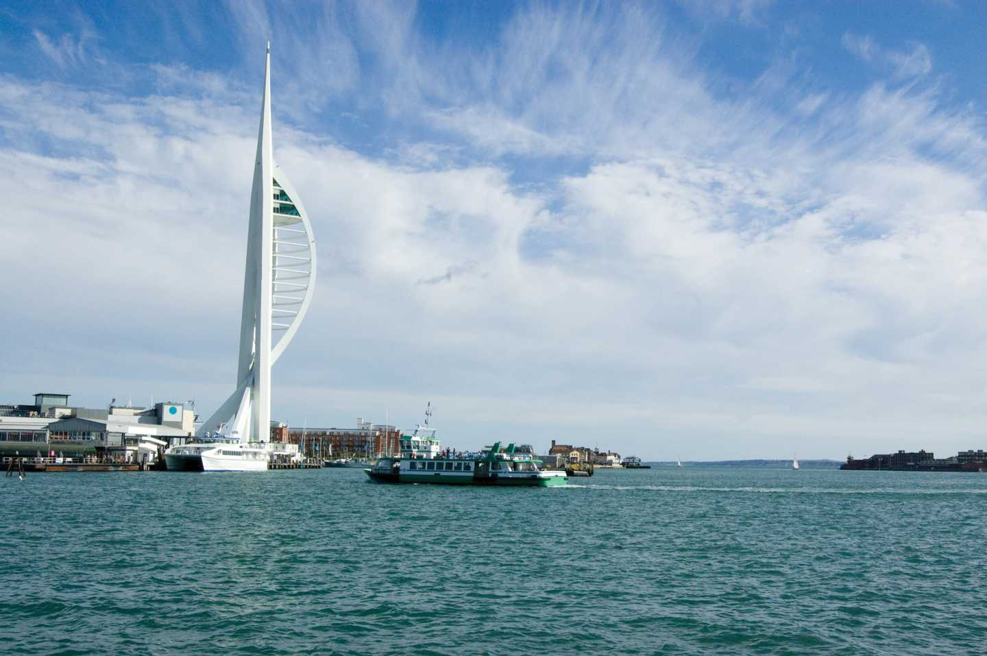 Spinnaker Tower overlooking Portsmouth Harbour