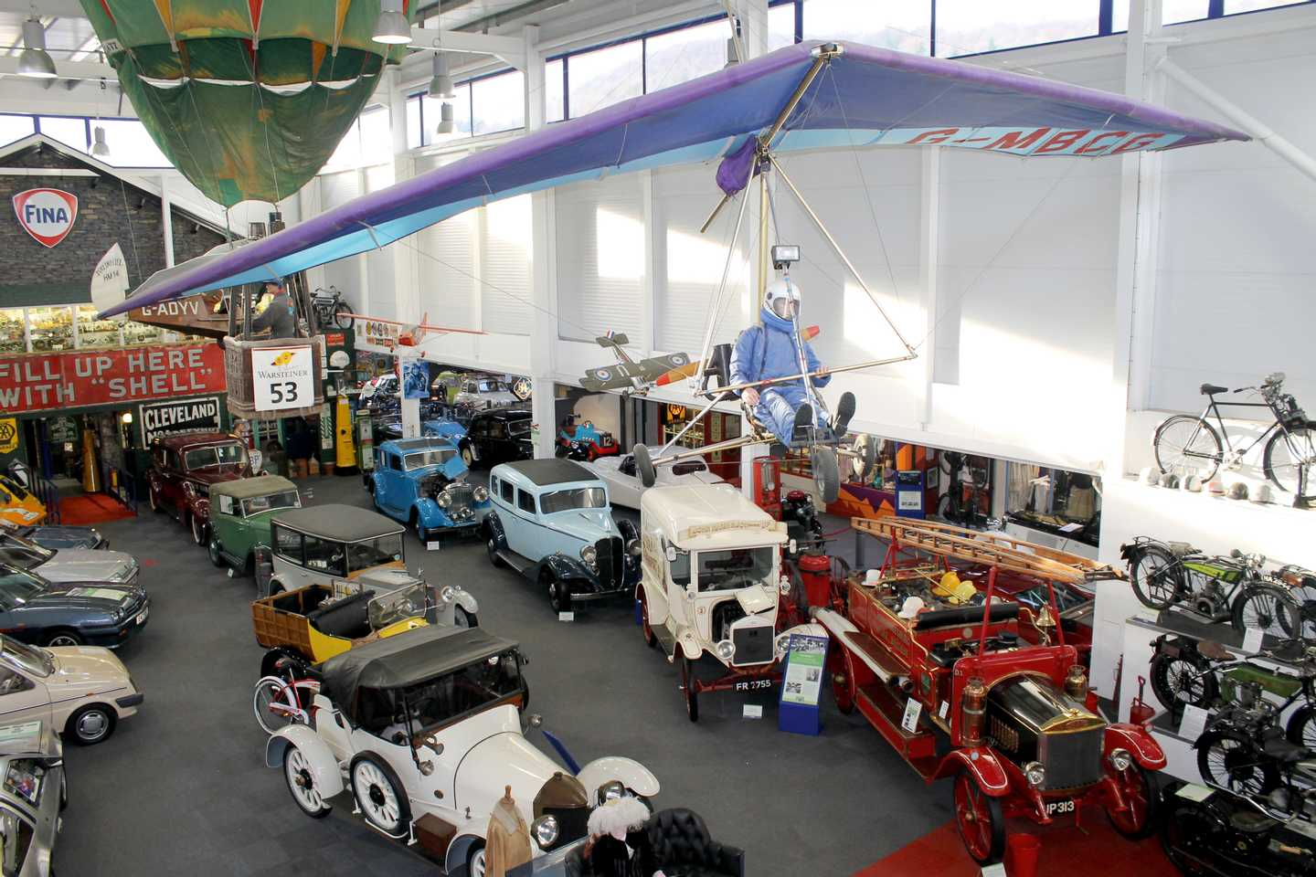 Classic car display at Lakeland Motor Museum