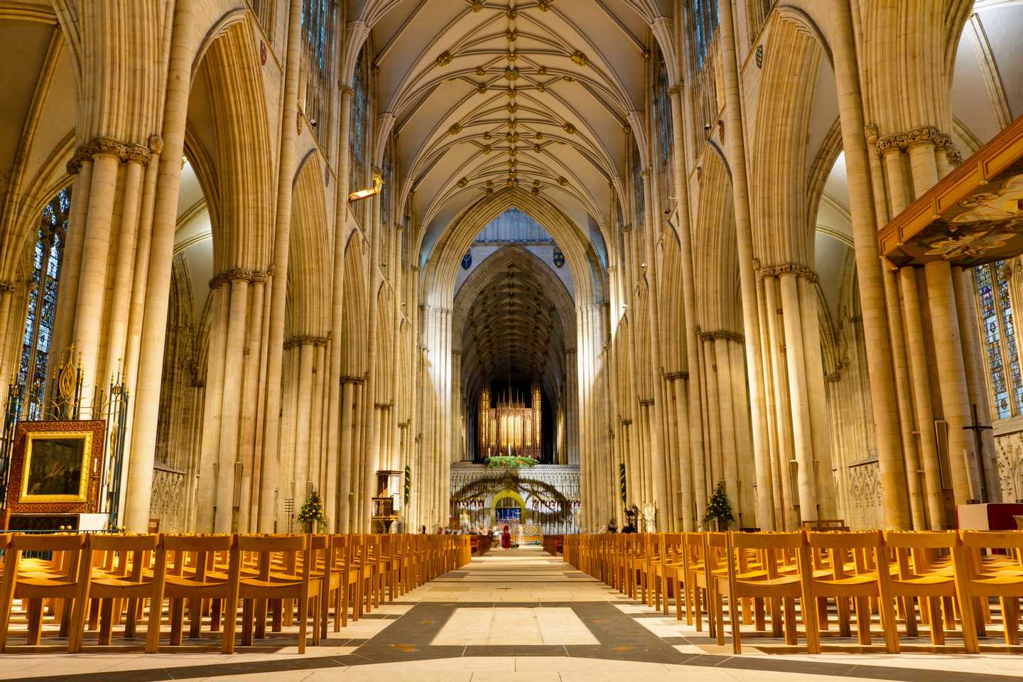Interior of York Minster in Yorkshire