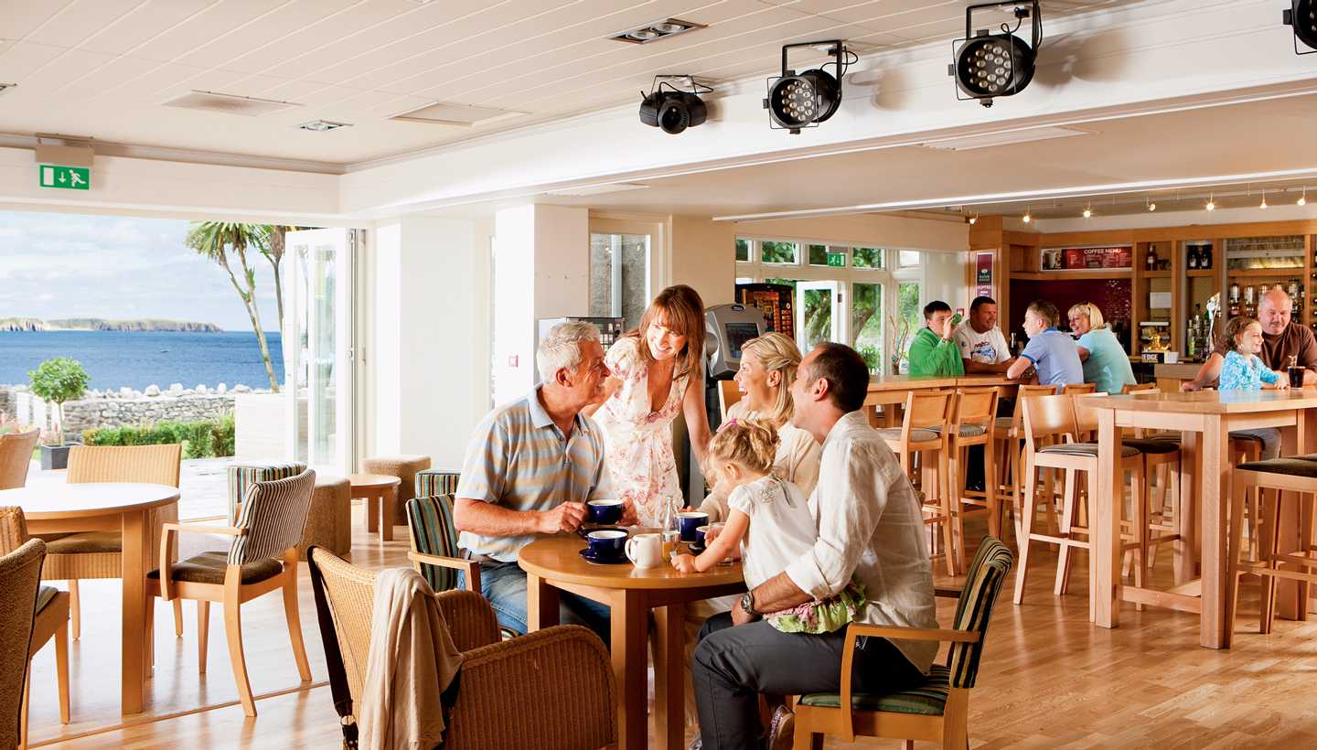 Guests eating in the Café Bar