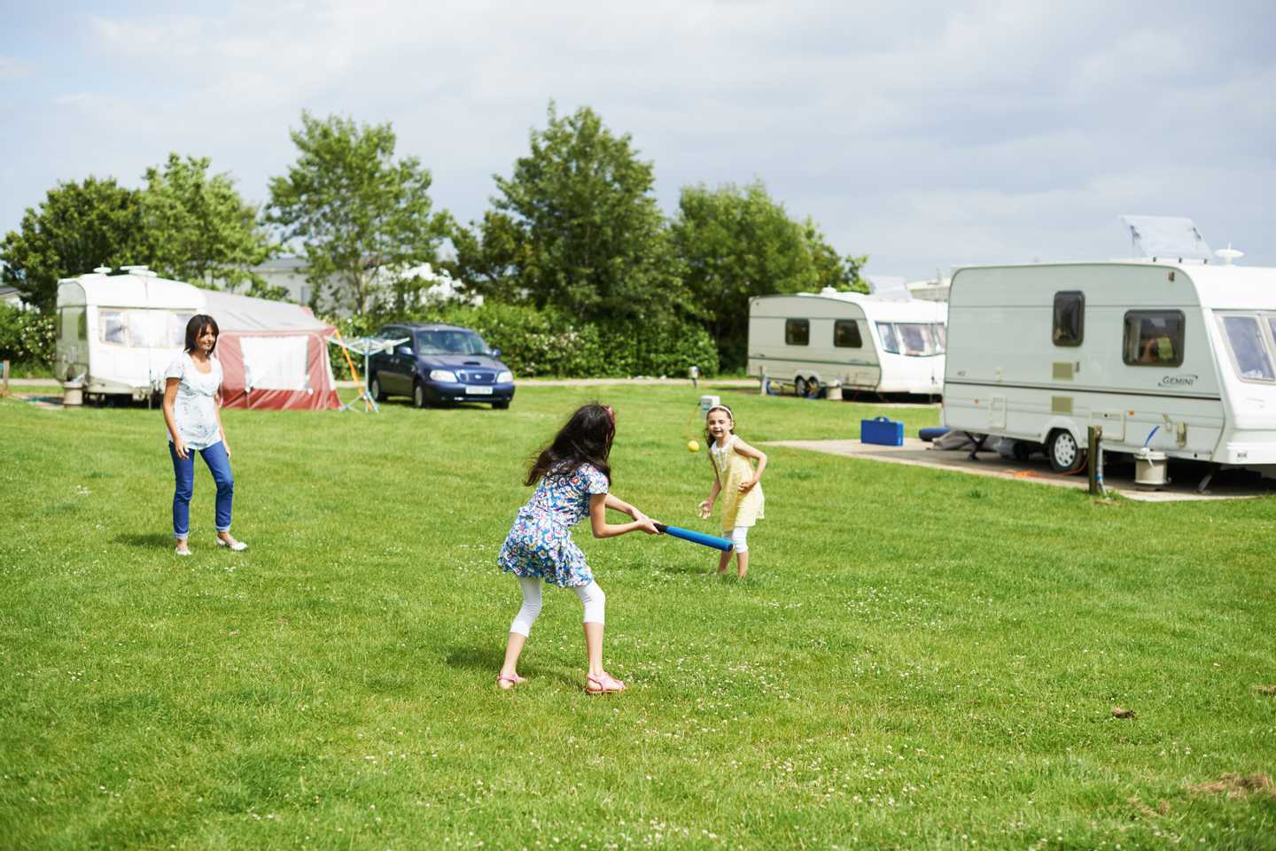 Guests playing in the touring area