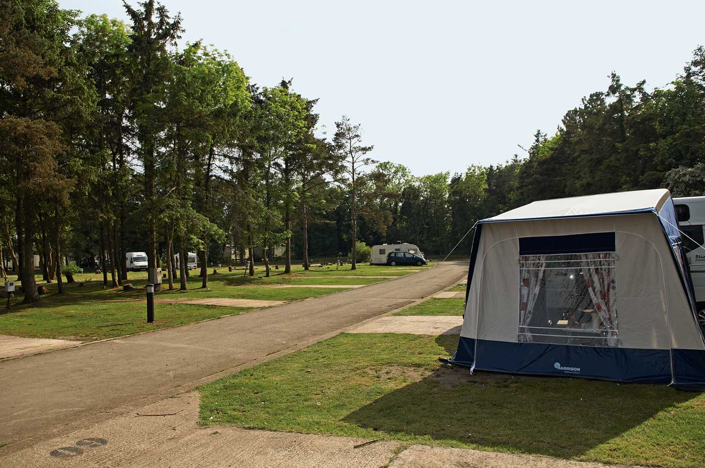 The touring area at Haggerston Castle