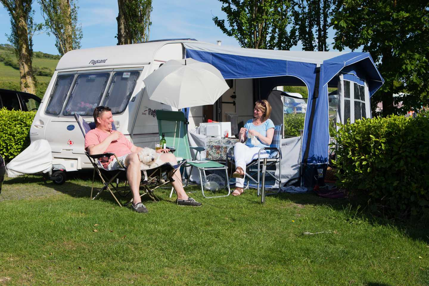 Family enjoying a camping holiday
