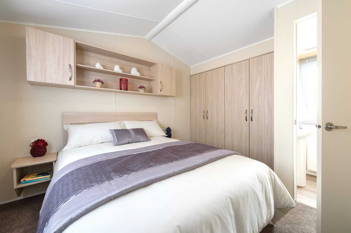 Master bedroom in a Willerby Rio
