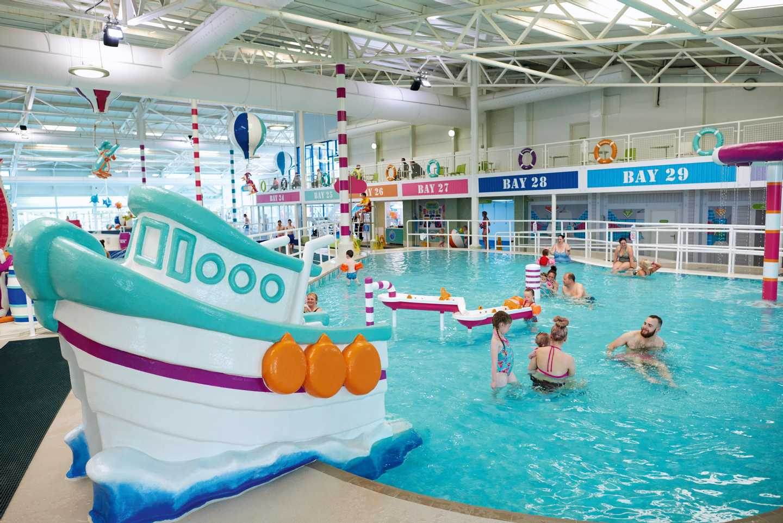 Indoor pool at Hafan y Môr