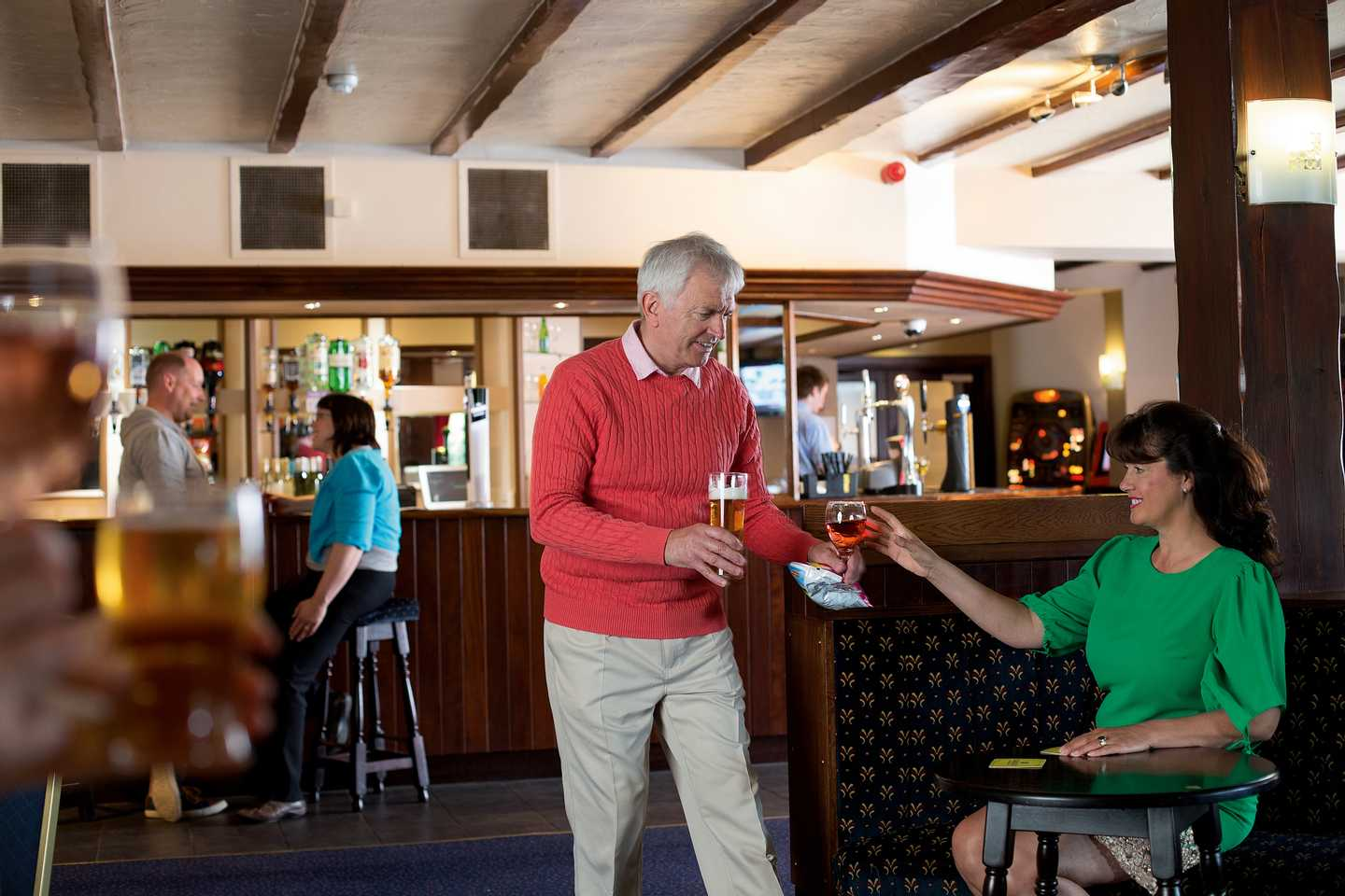 Owners enjoying a drink in the golf club