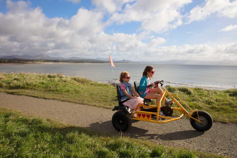 Girls on a kart