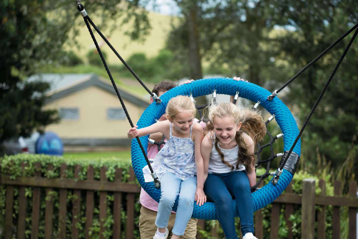 Children on the swings at Seaview Holiday Park