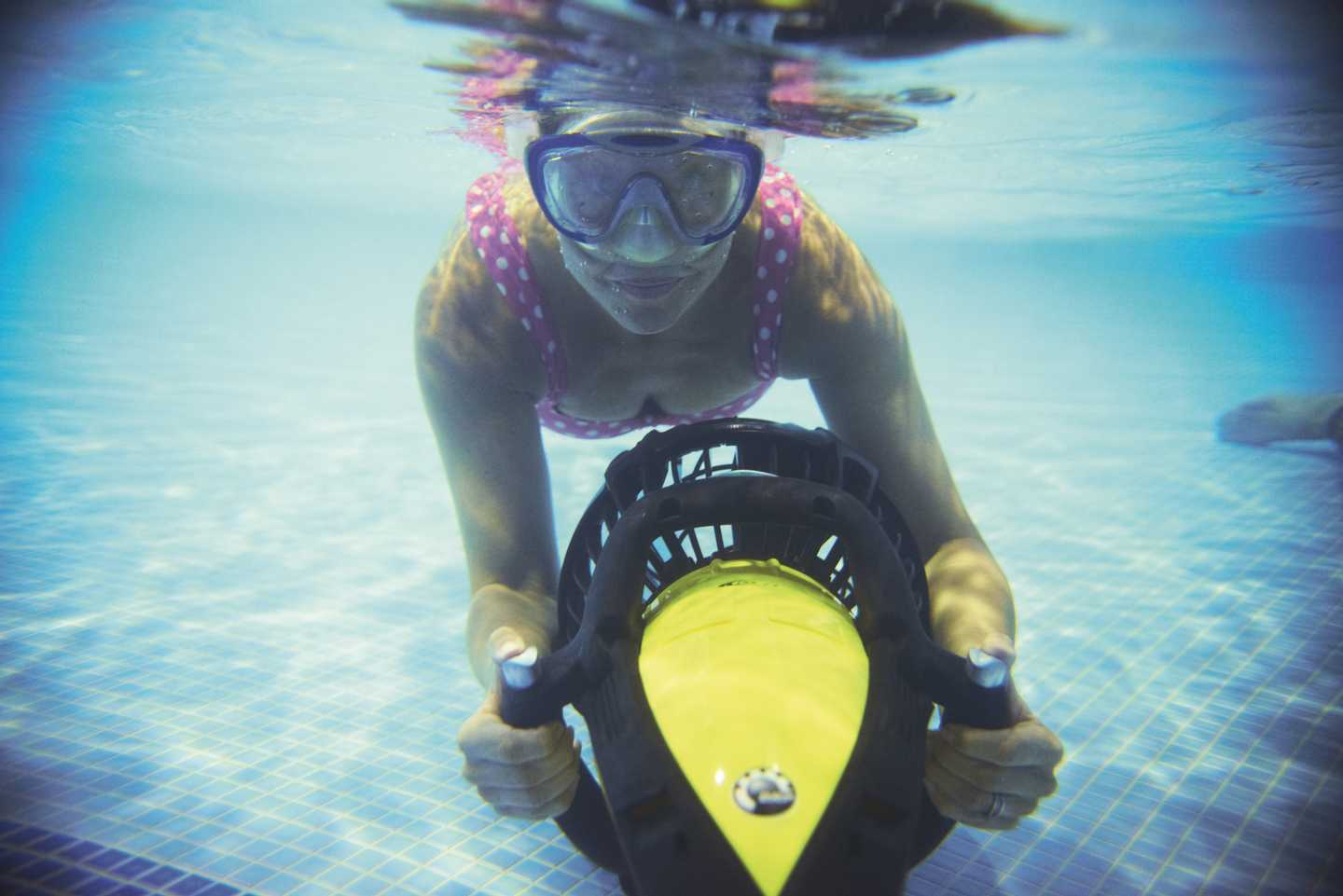 Girl using AquaJets