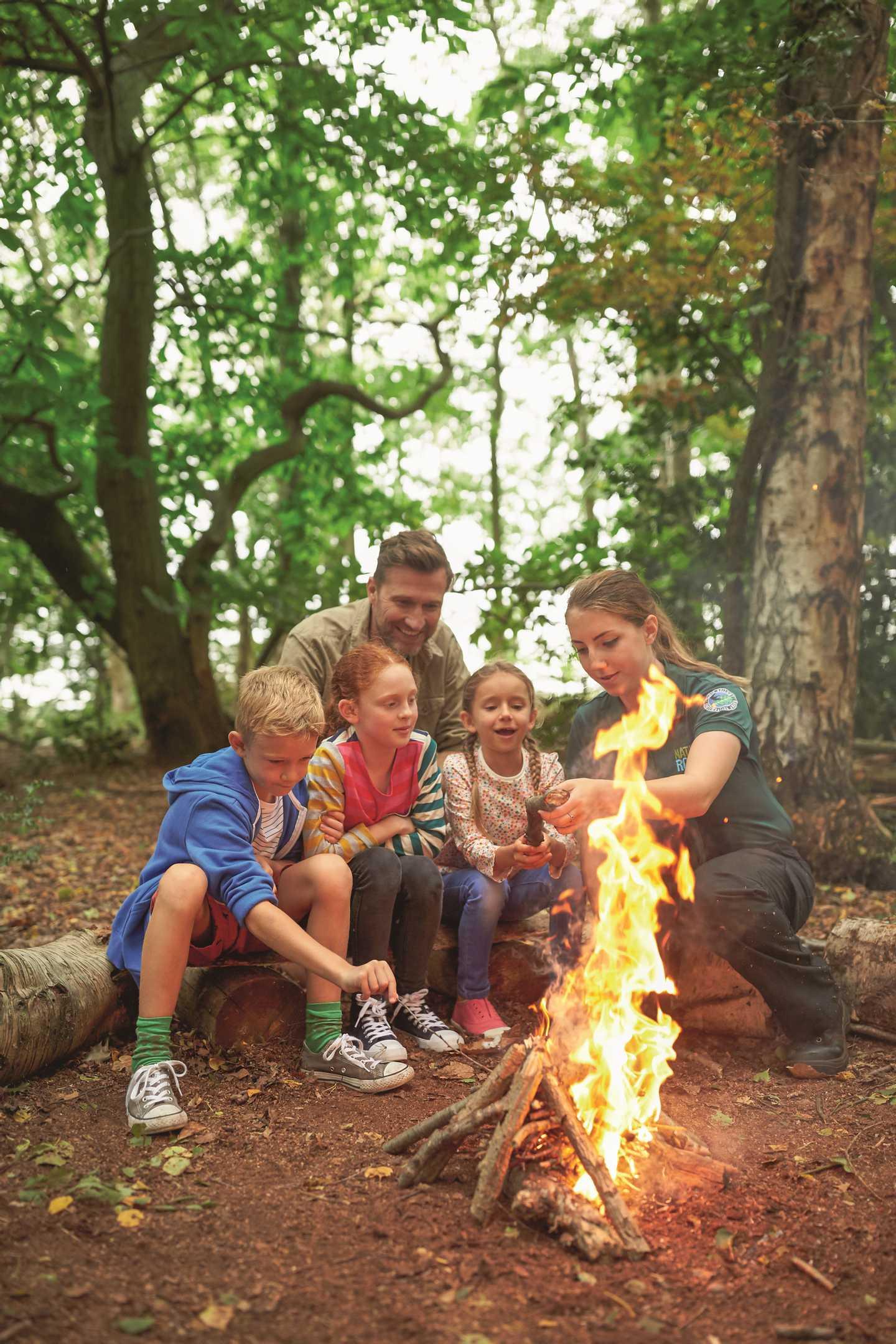 Kids and ranger fire lighting