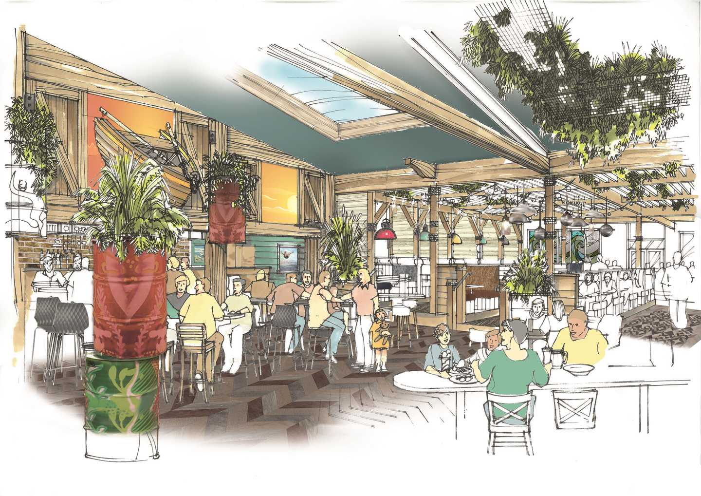 Artist's impression of The Marina Lounge