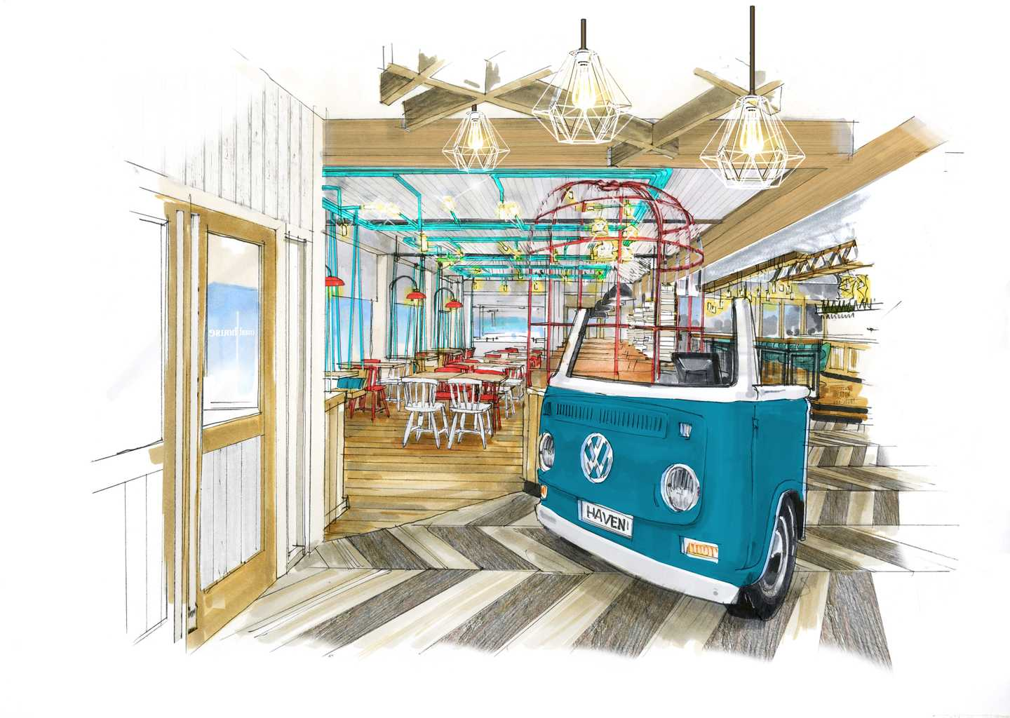 Artist's impression of the Coast House bar and grill