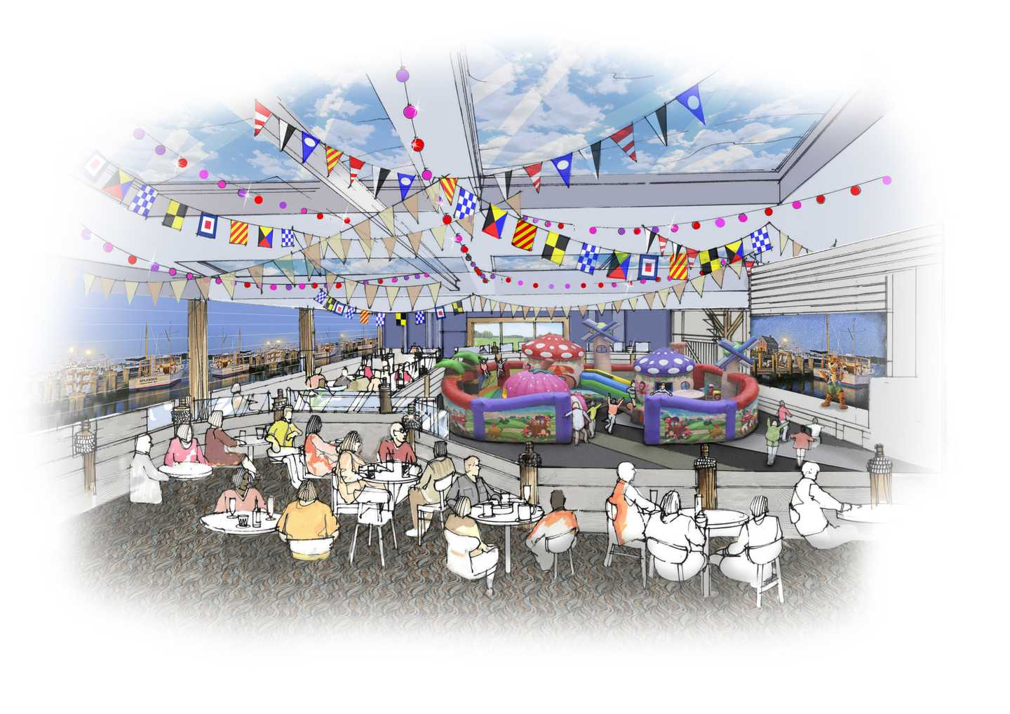 Artist's impression of The Marina stage