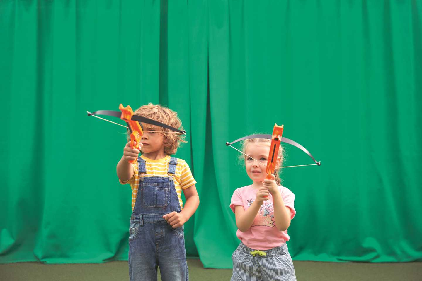 Children playing mini archery at Hopton