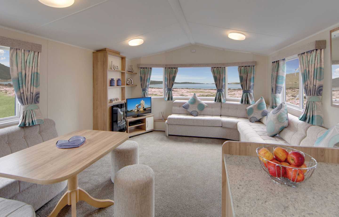 Interior of a Willerby Rio Gold static caravan