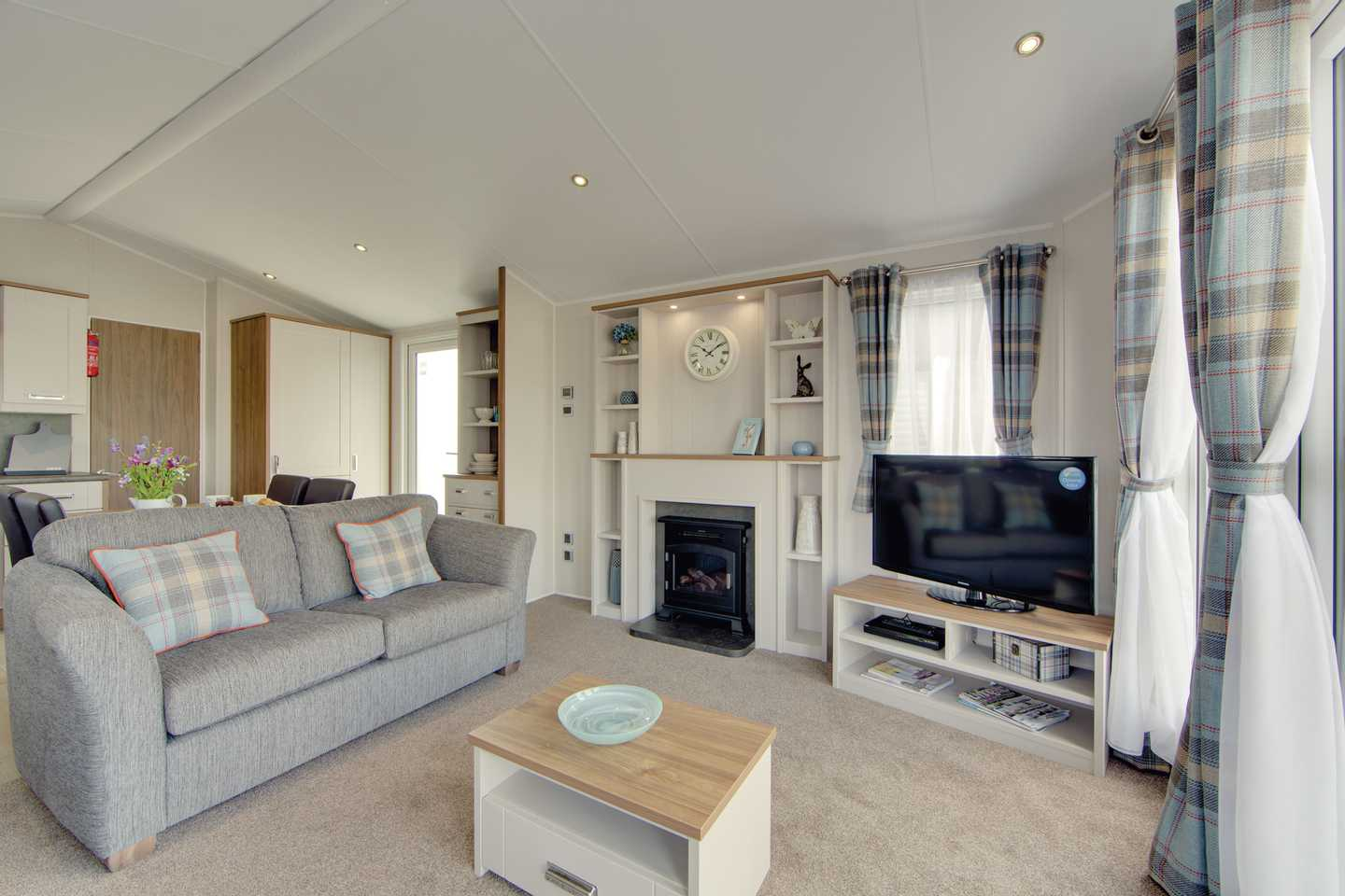 Interior of a Willerby Sheraton static caravan