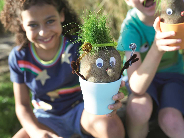 Nature Rockz grass head creations