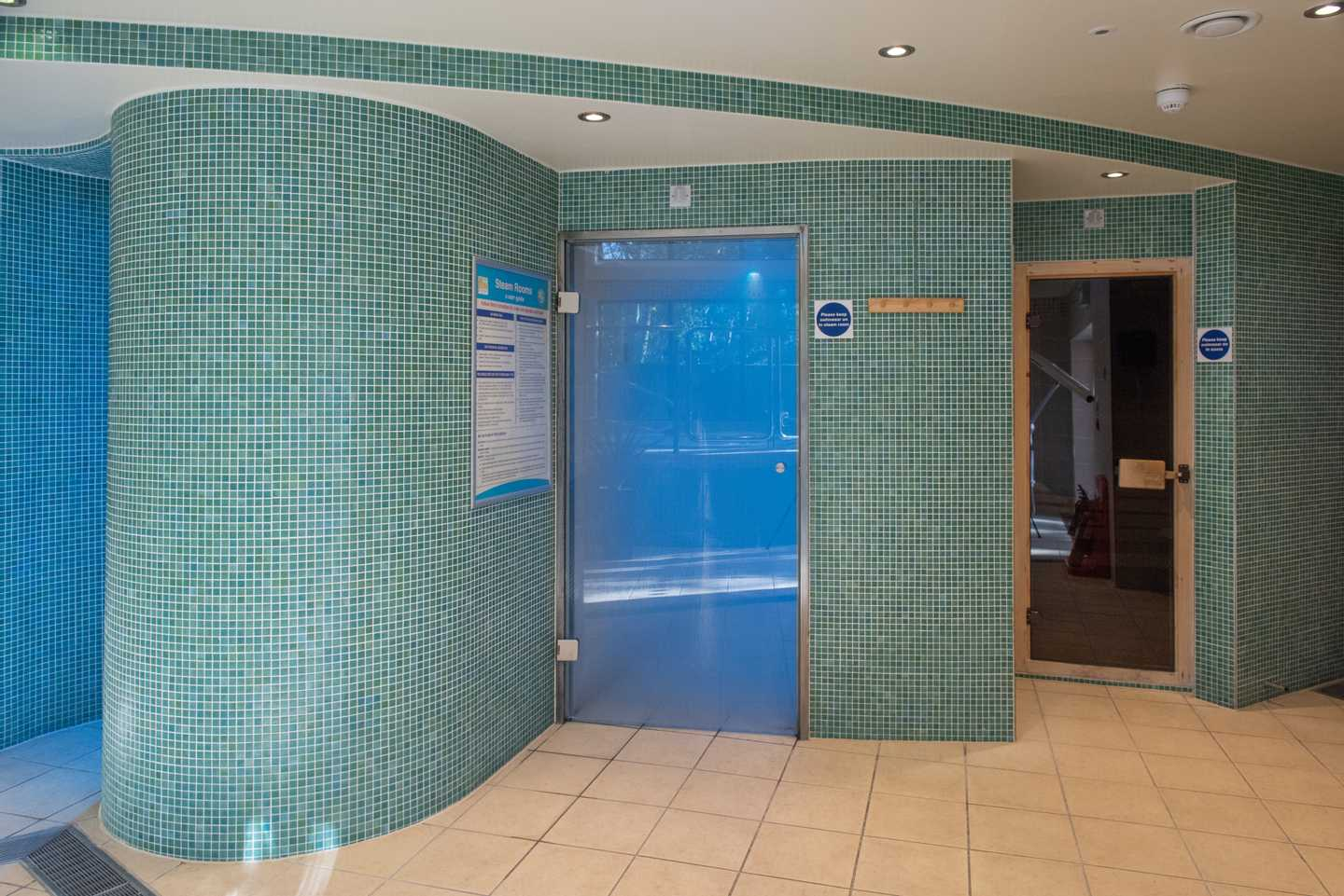 The owners' steam room at Church Farm