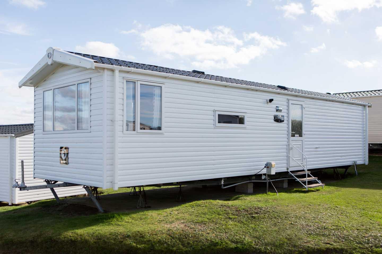 An exterior view of a Standard caravan