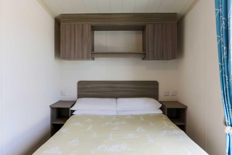 A master bedroom in a Standard caravan