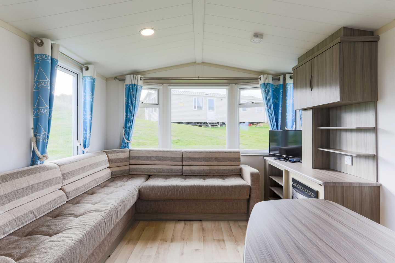 Lounge in a Standard caravan