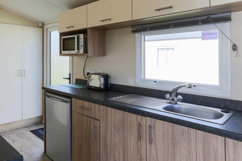 A Deluxe caravan kitchen