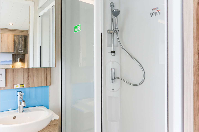 A Platinum caravan bathroom