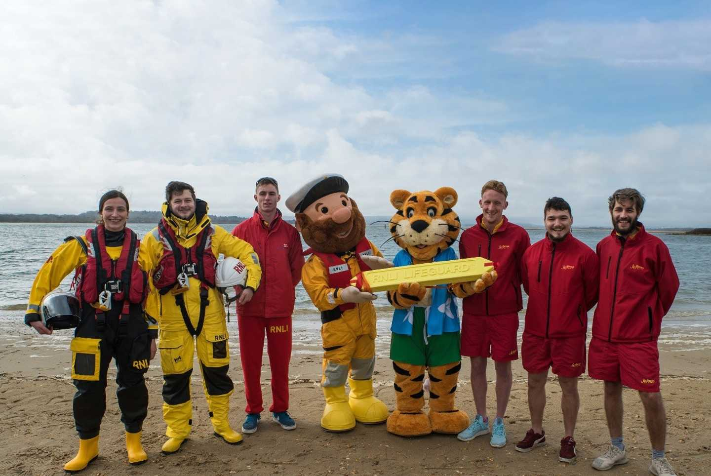The RNLI on the beach with Rory