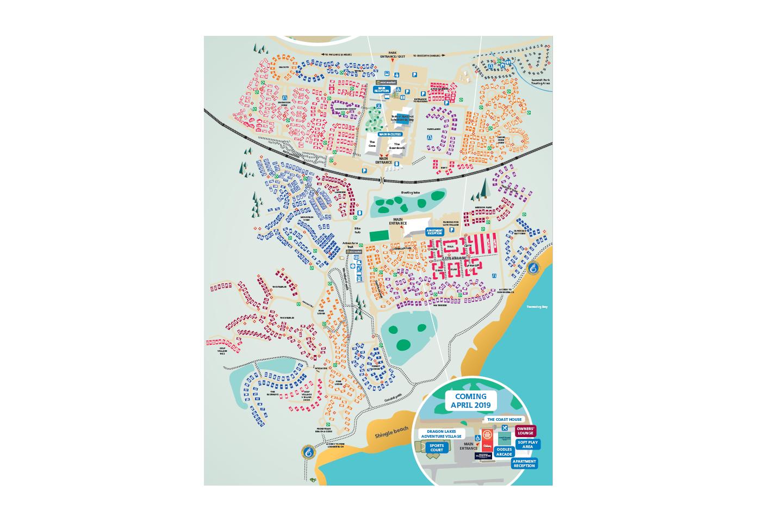 Map of Hafan y Mor
