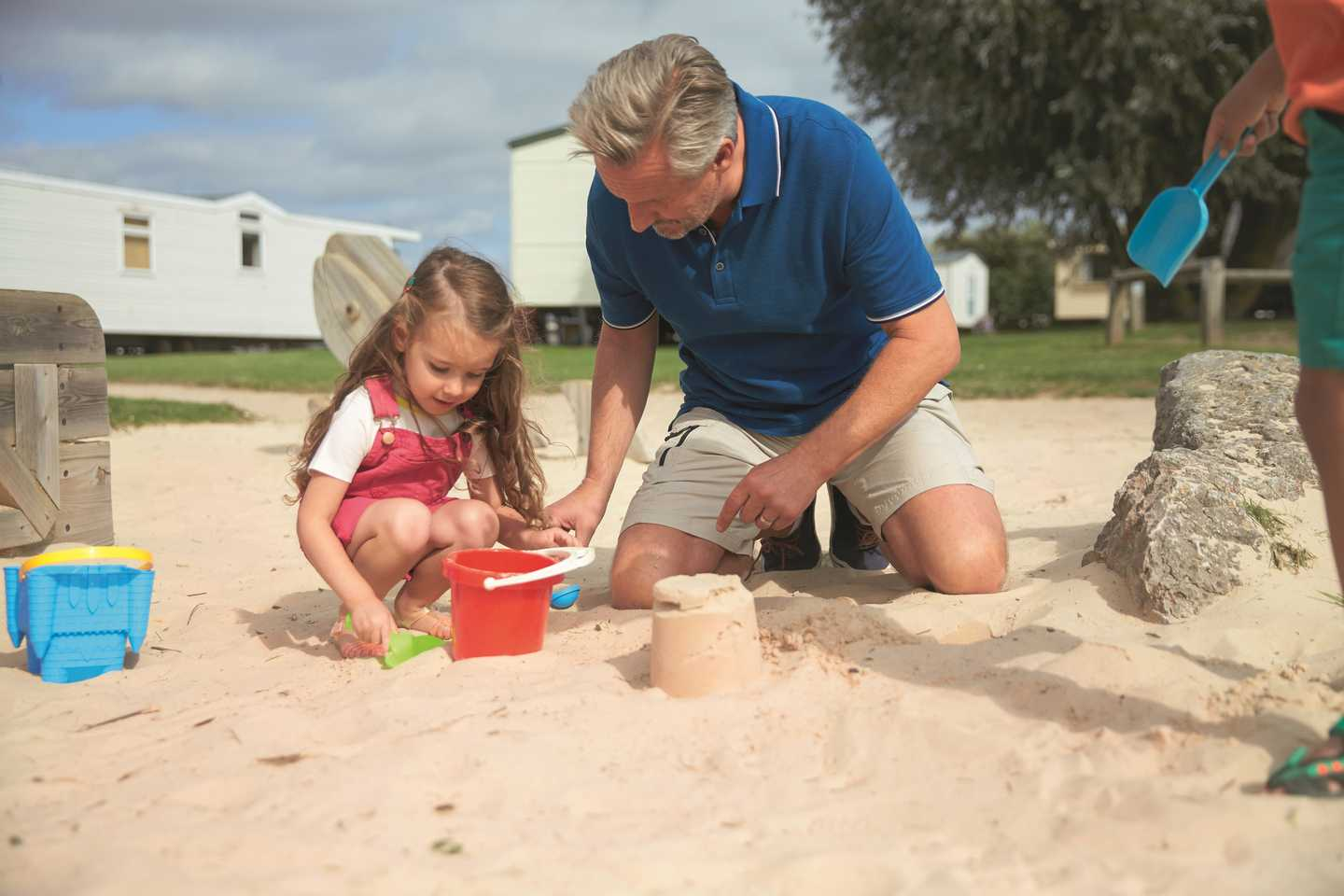 Guests playing in the sandpit