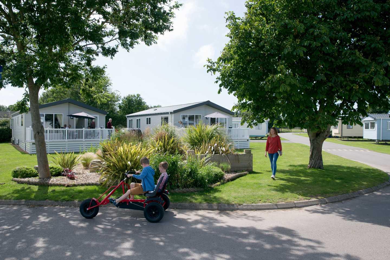 Child on a kart at Church Farm