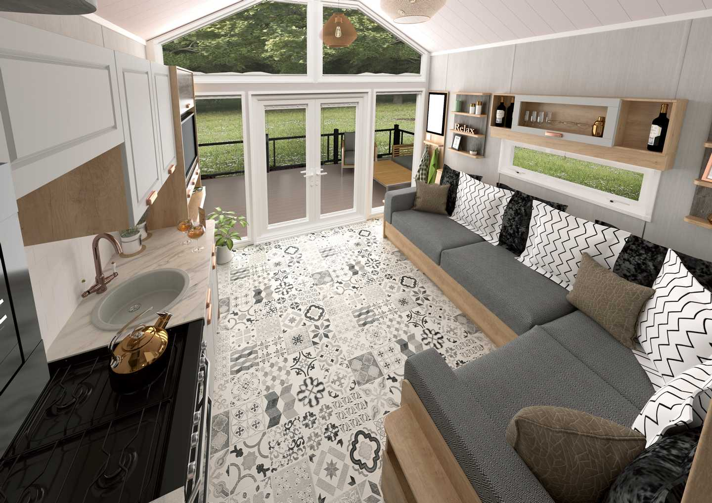 Interior of a Luxury Pod at Rockley Park