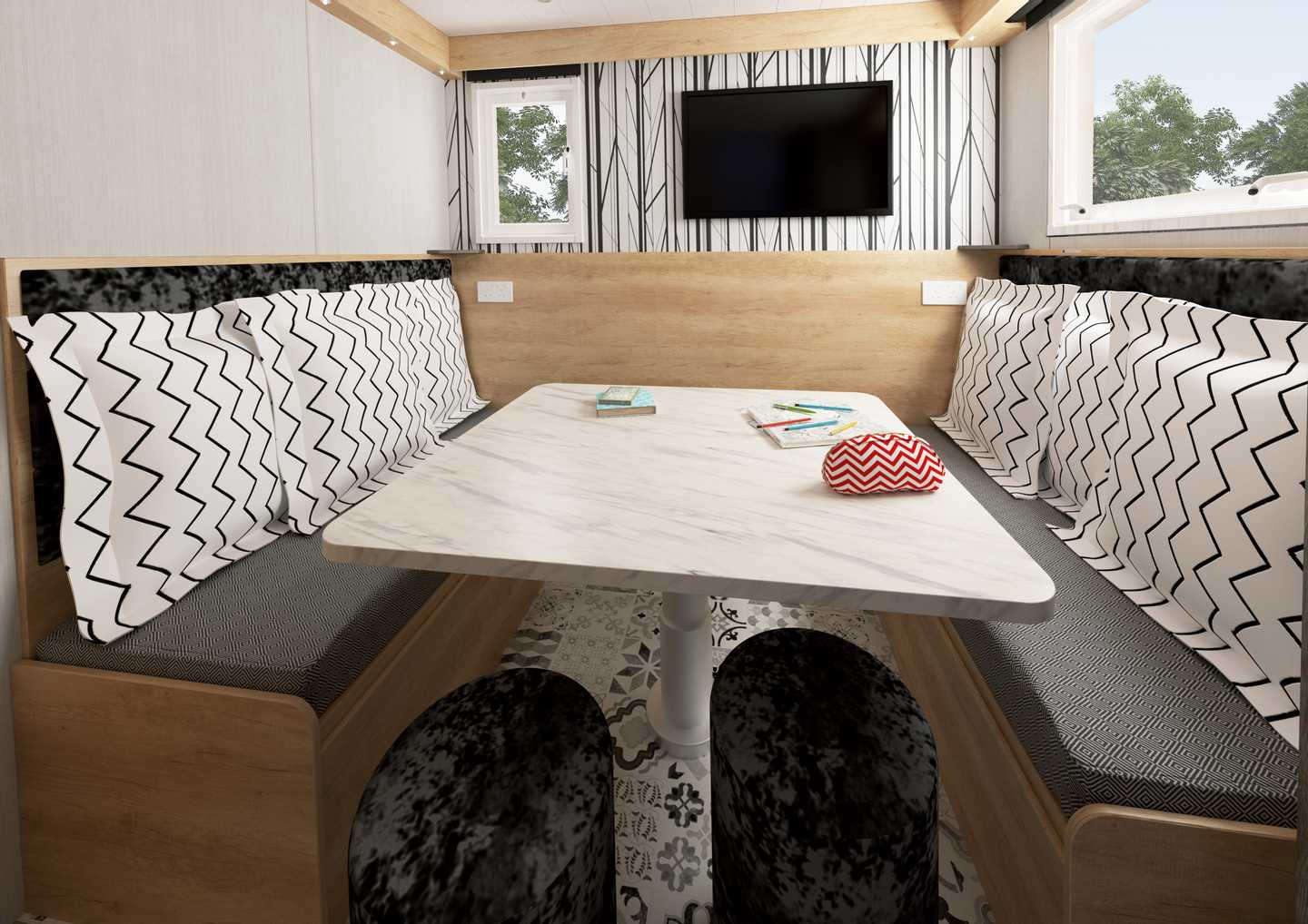 Dining area in a Pod