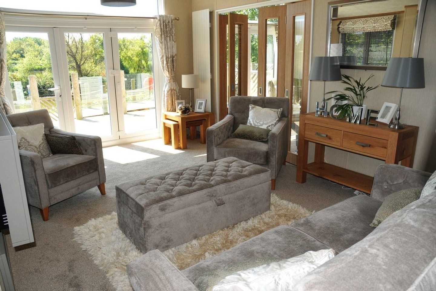 A Luxury Lodge decking area