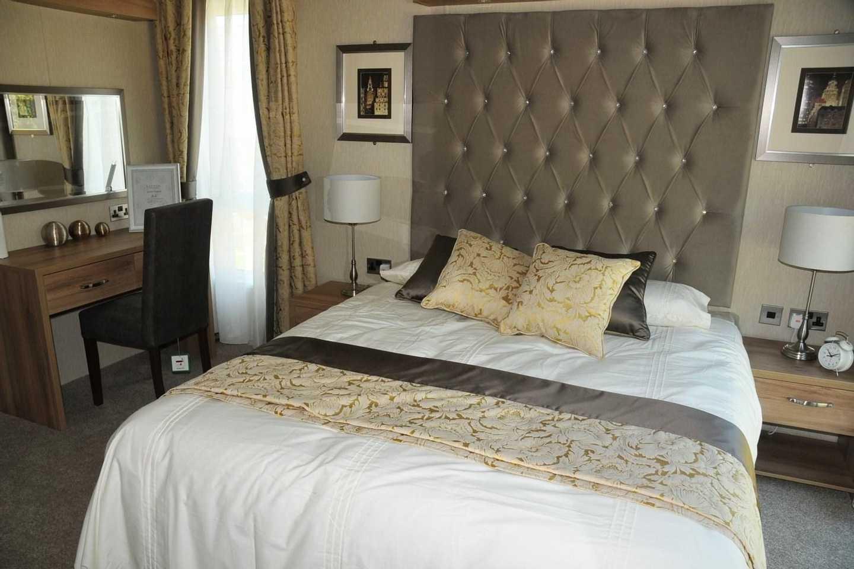 A Luxury Lodge master bedroom