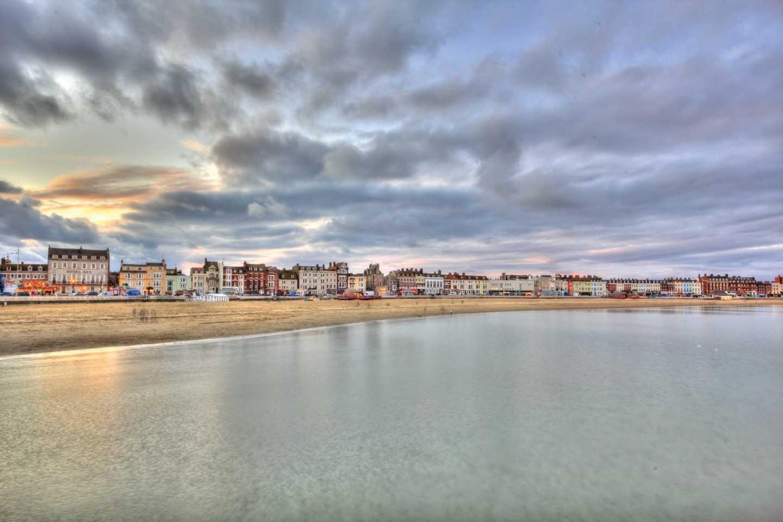 Coastal view of Weymouth Beach