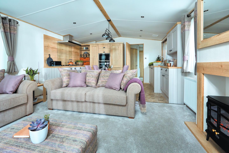 The lounge in a Platinum caravan