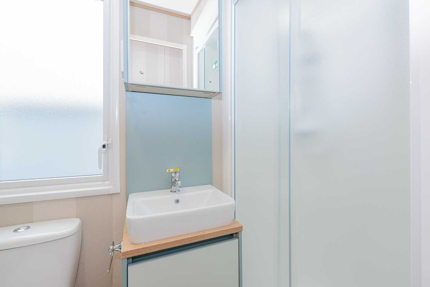 An example of the bathroom in a Prestige with Decking