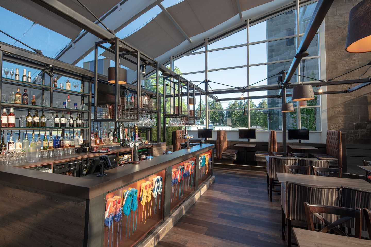 The Tower sports bar at Haggerston Castle