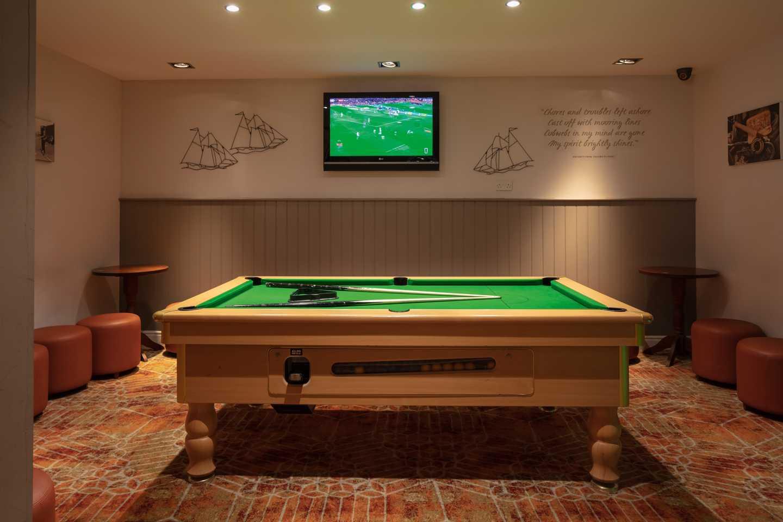 Pool table in the Brigs of Tweed restaurant